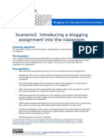 B4EE Scenario 3 - Introducing a Blogging Assignment Into the Classroom