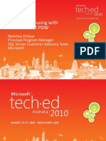 Microsoft - Data Warehousing With FastTrack PDW - TechEd Australia 2010
