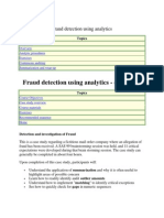 Fraud Detection Using Analytics