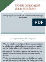 Aula 05 - Émile Durkheim e o Suicídio