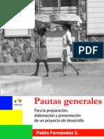 Pautas generales para la preparación, elaboración y presentación de un proyecto de desarrollo