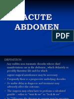 Acute Abdomen Lecture
