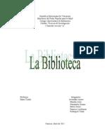 Informe Tecnica de Invest. Biblioteca