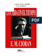 La Caída En El Tiempo - E.M. Cioran
