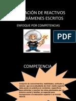 ELABORACIÓN DE REACTIVOS PARA  EXÁMENES ESCRITOS