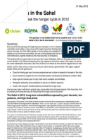 Food Crisis in the Sahel: Five steps to break the hunger cycle in 2012
