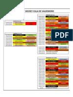 Calendario y reglamento IITorneo hobby hockey de Valdemoro