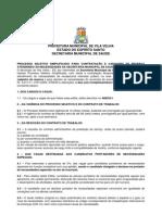 Edital Processo Seletivo 01_2012 Semsa