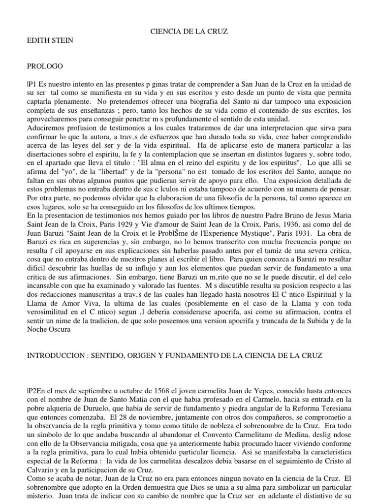 Ciencia De La Cruz Edith Stein