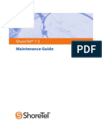 Shoretel 7.5 Maintenance Guide