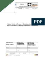 Manual Técnico de Pruebas y Mantenimiento con piranometro