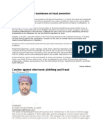 Expert Advises Oman Businesses on Fraud Prevention