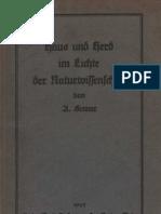 Haus und Herd im Lichte der Naturwissenschaften - Anton Senner / 1925