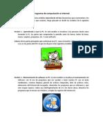 Programa de computación e internet