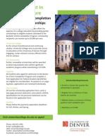 Bachelor of Arts Completion Program Scholarships