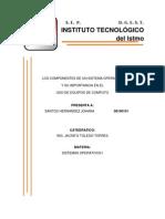 Los Componentes de Un Sistema Operativo y Su Importancia en El Uso de Equipos de Computo
