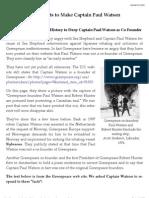 Paul Watson and Greenpeace - Sea Shepherd