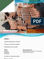 Curso Corrosión I PROFESOR VELEZ UNIVALLE
