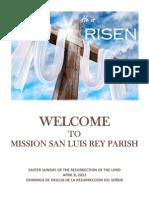 Easter Sunday Bulletin for 4-08-2012, MSLRP