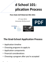 Grad School 101 - Applications