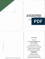 Plan de Gobierno de Izquierda Unida 1990-1995