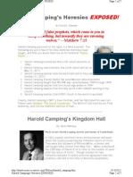Harold Camping's Heresies Exposed