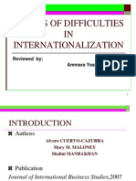 Causes of Difficulties in International