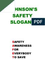 Johnson's Safety Slogans Version1-0