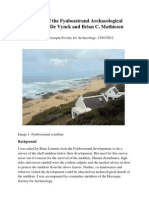 Survey Notes of the Fynbosstrand Archaeological Sites by Jan C