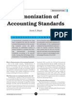 Harmony of Accounting Std
