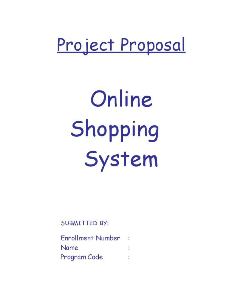 Proposal for online shopping system