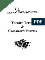 Theatre Terms & Crossword Puzzles