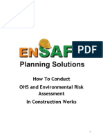 How To Conduct  OHS and Environmental Risk Assessment  In Construction Works