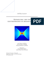 Microfluidic Chip for Electroporation of Biological Cells