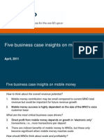 Five Insights Mno Business Case in Mobile Money