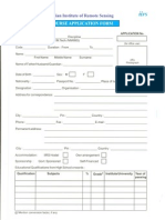Application Form2007