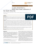A Novel Esterase Gene Cloned From a Metagenomic Library From Sediments, 2011
