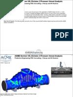ASME Pressure Vessel Analysis