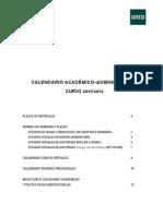 CALENDARIO ACADÉMICO ADMINISTRATIVO 2011-2012 FIRMAE-2