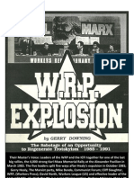 WRP Explosion By Gerry Downing
