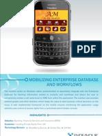 Mobilizing Enterprise Database and Work Flows