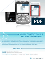 MobileContentBackup,RestoreandSharing