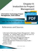 Unit 9 Introduction to Project Management