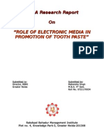 Project Report on TOOTH-PASTE