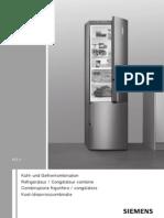 Siemens Refrigerateur KD29VVL30 Notice et Installation Fr