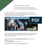 Prochain match de rugby live en streaming
