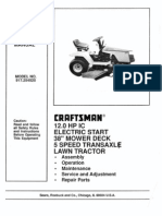 Craftsman Garden Tractor Manual 917.254520
