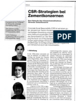 CSR Strategies by the Cement Sector (German)