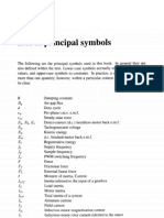 List of Principal Symbols