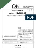 Denon Dvd 2900 Service Manual